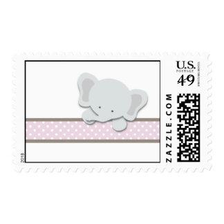 Pequeños sellos del elefante rosa el