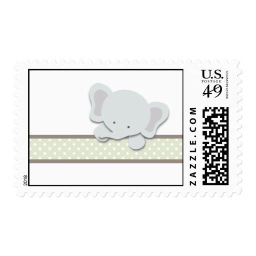 Pequeños sellos del elefante {verde} el |