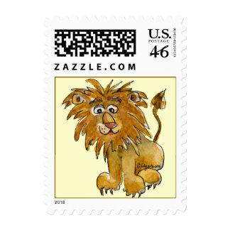Pequeños sellos del león lindo del dibujo animado