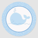 Pequeños sellos del sobre de la ballena azul/prime etiquetas redondas