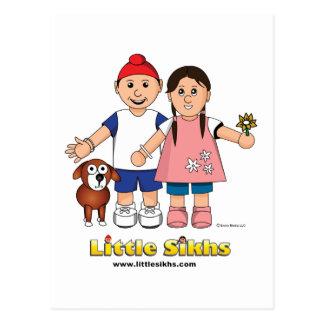Pequeños sikhs tarjeta postal