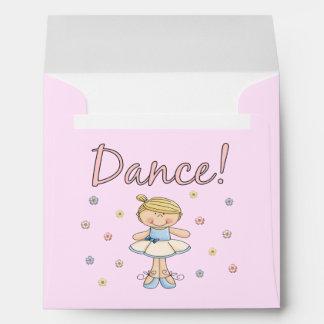 Pequeños sobres de la bailarina