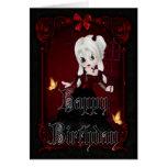 Pequeños tarjeta gótica del feliz cumpleaños del d
