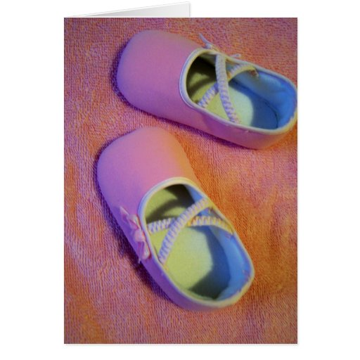 pequeños zapatos tarjeta