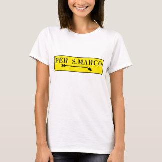 Per San Marco, Venice, Italian Street Sign T-Shirt