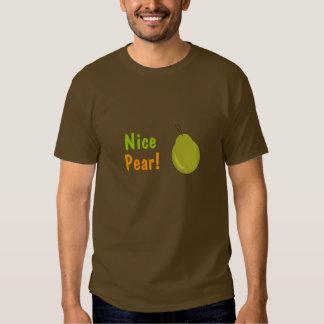 ¡Pera agradable! Diseño con sabor a fruta Poleras