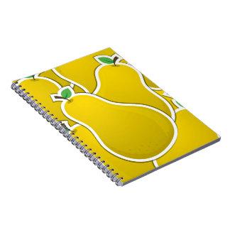 Pera amarilla enrrollada cuadernos