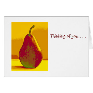 Pera brillante tarjeta de felicitación