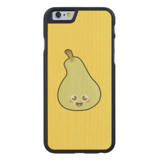 Pera de Kawaii Funda De iPhone 6 Carved® Slim De Arce