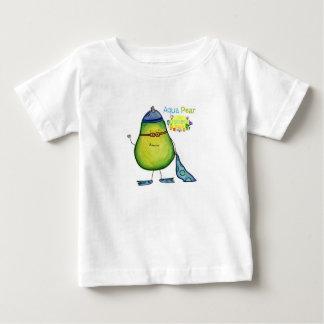 Pera de la aguamarina, camiseta del bebé poleras
