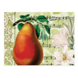 Pera elegante tarjetas postales