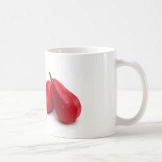 Pera roja taza de café