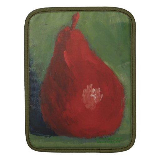 Pera roja y manga verde del carrito funda para iPads