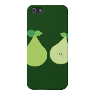 Pera verde moderna iPhone 5 funda