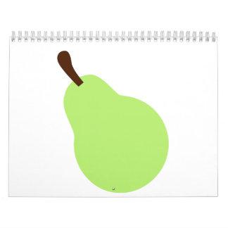 Pera verde calendarios de pared