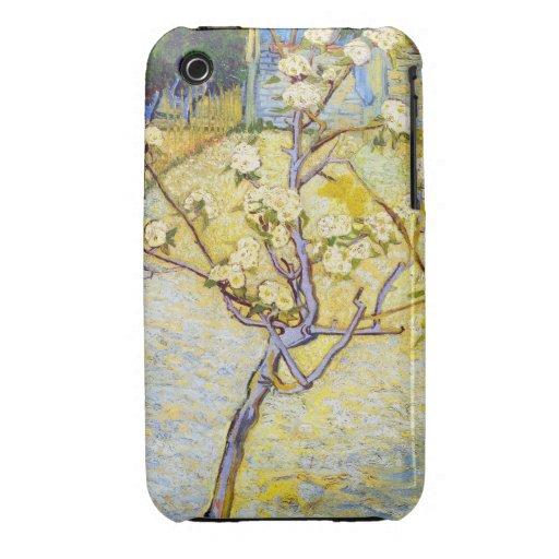 Peral en bella arte de Vincent van Gogh del flor iPhone 3 Case-Mate Funda