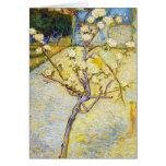 Peral en bella arte de Vincent van Gogh del flor Tarjeta Pequeña