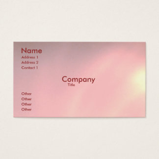 Peralized Pink Business Card