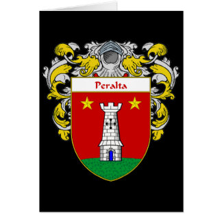 Peralta Coat of Arms/Family Crest Card