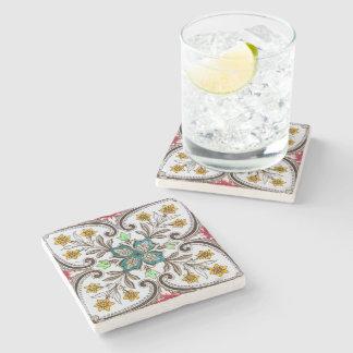Peranakan Floral Pattern Stone Coaster