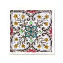 Peranakan Floral Tiles Napkin