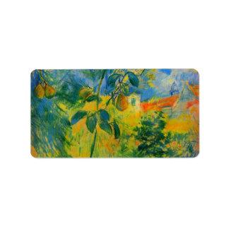 Peras de Berthe Morisot Etiqueta De Dirección