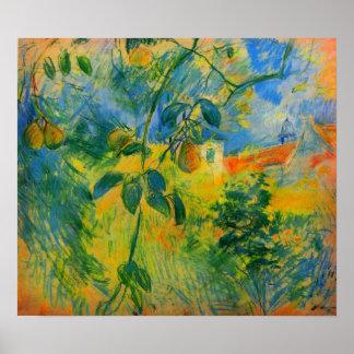 Peras de Berthe Morisot Póster