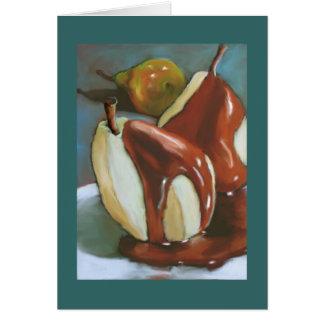 Peras del chocolate: Aniversario feliz a los pares Tarjeta De Felicitación