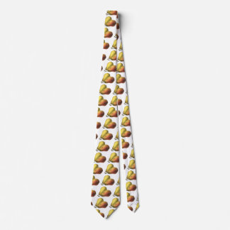Peras del vintage, comidas orgánicas, fruta madura corbata