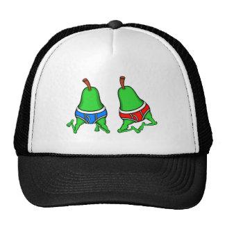 Peras felices de los pares del orgullo gay gorras
