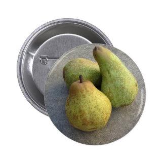 Peras maduras pin redondo de 2 pulgadas