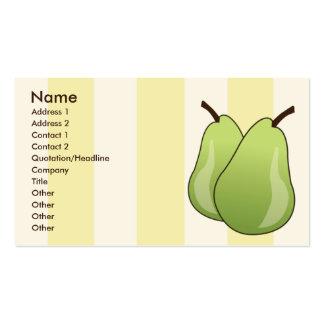 Peras - negocio plantilla de tarjeta personal