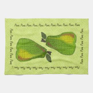 Peras texturizadas (cal) toalla de cocina