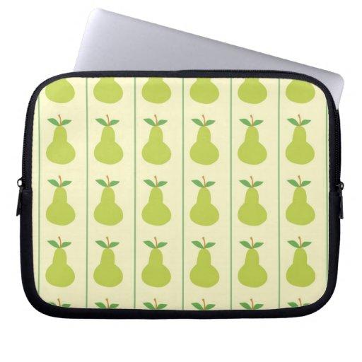 Peras verdes bonitas manga computadora