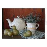 Peras y cerámica Notecard Tarjetas