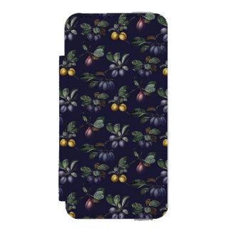 Peras y ciruelos del vintage funda billetera para iPhone 5 watson