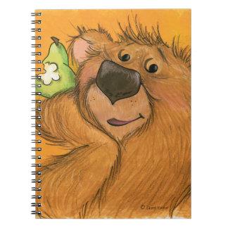Peras y oso/cuaderno libro de apuntes con espiral