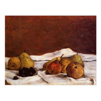 Peras y uvas de Paul Gauguin- Tarjeta Postal