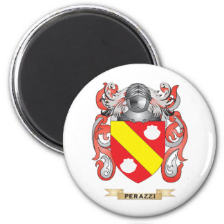 Perazzi Coat of Arms (Family Crest) 2 Inch Round Magnet