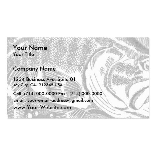 Perca americana en los cattails tarjetas de visita