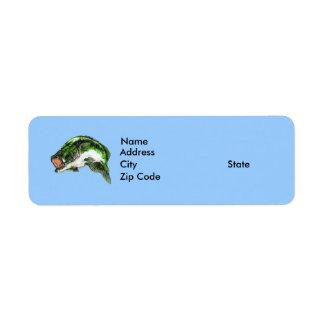 Perca americana etiquetas de remite