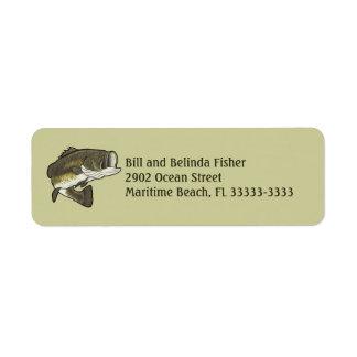 Perca americana etiqueta de remite