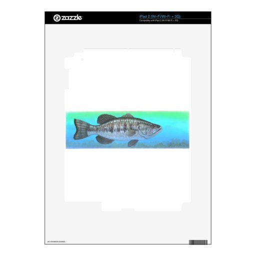 Perca americana iPad 2 calcomanía