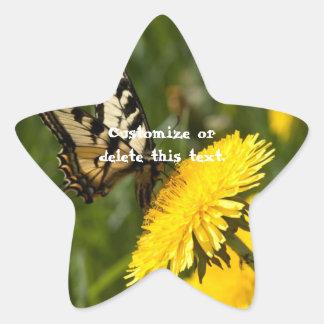 Perca de la mariposa; Personalizable Colcomanias Forma De Estrellaes