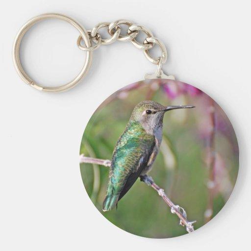 Perca del colibrí II Llavero Redondo Tipo Pin