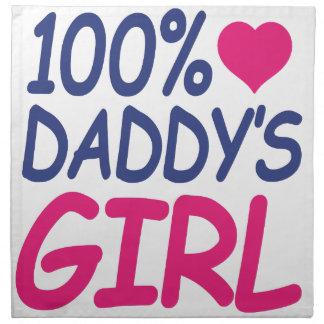 percent Daddy's girl Cloth Napkin