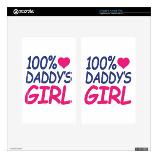 percent Daddy's girl Decal For Kindle Fire