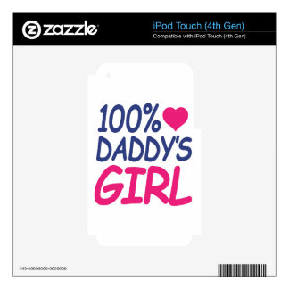 percent Daddy's girl Decals For iPod Touch 4G