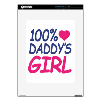 percent Daddy's girl iPad Decal