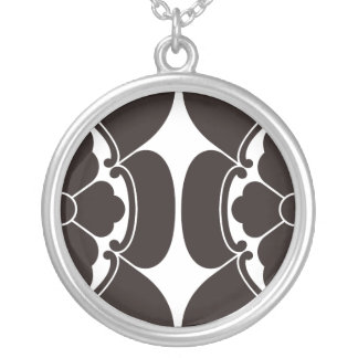 Percentage Japanese quince Silver Plated Necklace